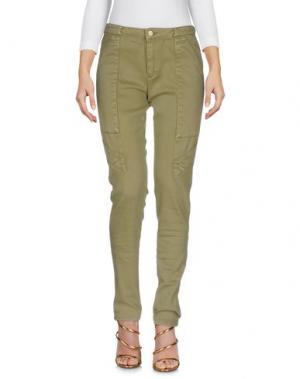 Джинсовые брюки INTROPIA. Цвет: зеленый-милитари