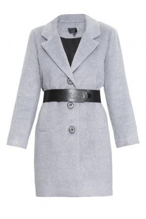 Пальто с ремнем 160420 Access. Цвет: серый