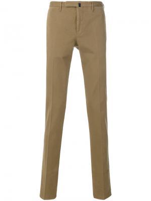 Классические брюки-чинос Incotex. Цвет: телесный