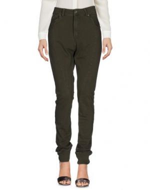 Повседневные брюки PLEASE. Цвет: зеленый-милитари