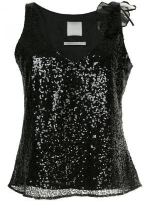 V-neck sequin vest Ingie Paris. Цвет: чёрный