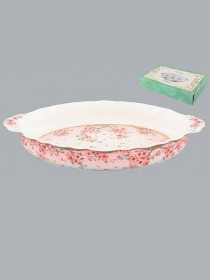 Блюдо Сакура Elan Gallery. Цвет: розовый