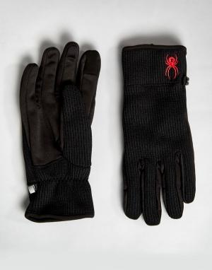 Spyder Перчатки на флисовой подкладке. Цвет: черный