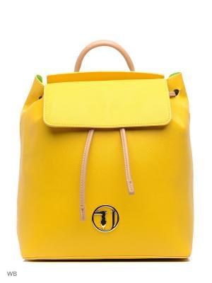 Рюкзак Trussardi. Цвет: зеленый, желтый