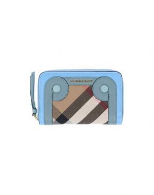 Бумажник BURBERRY. Цвет: лазурный