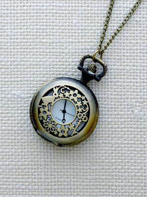 Кулон-часы Кролик и ключик (mini) Mitya Veselkov. Цвет: бронзовый