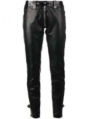 Узкие брюки с молнией Beau Souci. Цвет: чёрный