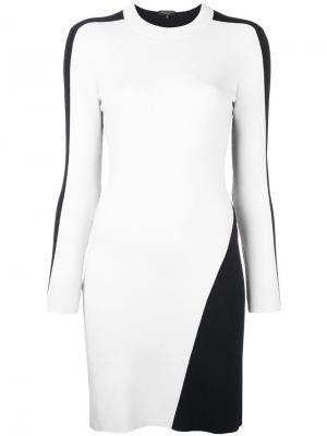 Платье с контрастными панелями Rag & Bone. Цвет: телесный