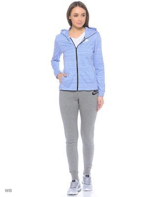 Толстовка W NSW AV15 JKT KNT Nike. Цвет: серый, белый