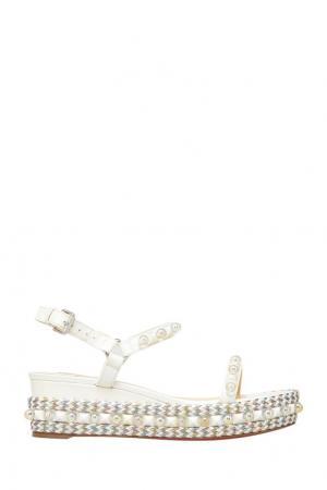 Кожаные сандалии Cataconico 60 Christian Louboutin. Цвет: белый