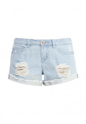 Шорты джинсовые Noisy May. Цвет: голубой