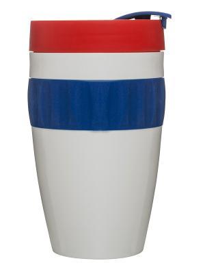 Кружка для напитков на вынос Sagaform. Цвет: белый, красный, синий