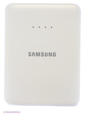 Портативное зарядное устройство+кабель microUSB Samsung. Цвет: белый