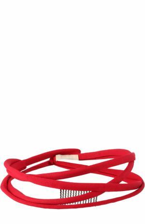 Ободок с гребнем Alaia. Цвет: красный