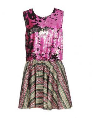 Короткое платье ODI ET AMO. Цвет: фуксия