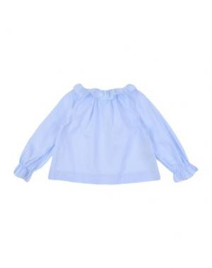 Блузка LA STUPENDERIA. Цвет: небесно-голубой