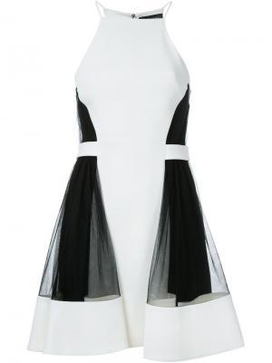 Платье с панельным дизайном David Koma. Цвет: белый