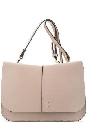 Бежевая сумка через плечо с откидным клапаном Gianni Chiarini. Цвет: бежевый