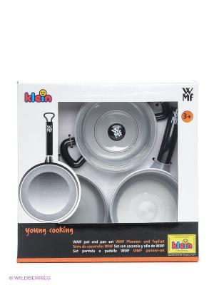 Набор посуды WMF, 3 предмета KLEIN. Цвет: серебристый