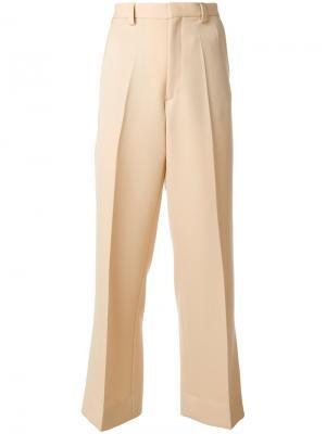 Расклешенные брюки Maison Margiela. Цвет: телесный
