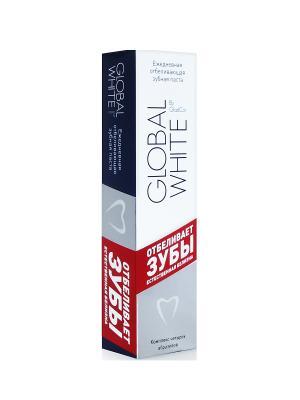 Ежедневная отбеливающая зубная паста GLOBAL WHITE, 30 мл. White. Цвет: белый, красный