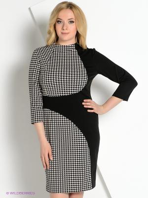 Платье КАЛIНКА. Цвет: черный, бежевый