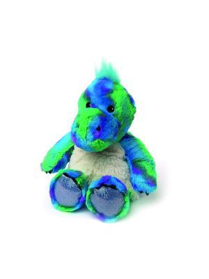 Игрушка-грелка Блестящий динозавр Warmies. Цвет: синий