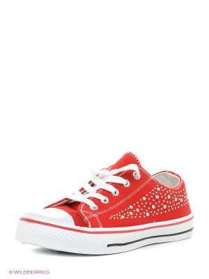 Обувь повседневная женская FACE. Цвет: красный