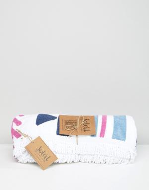 Soleil Квадратное пляжное полотенце. Цвет: мульти