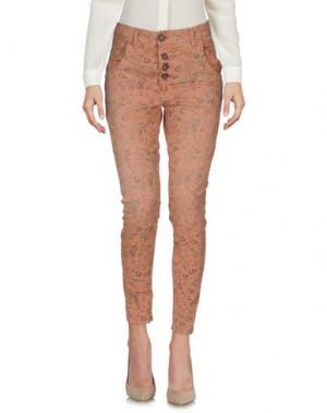 Повседневные брюки BERNA. Цвет: лососево-розовый