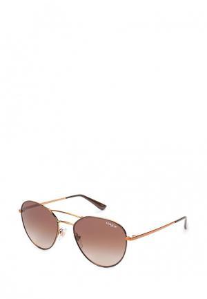 Очки солнцезащитные Vogue® Eyewear. Цвет: коралловый