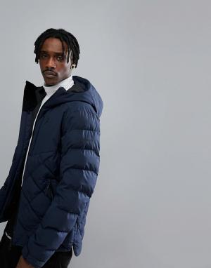 Peak Performance Темно-синяя дутая куртка Alaska. Цвет: темно-синий