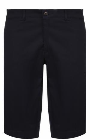 Хлопковые бермуды с карманами Moncler. Цвет: темно-синий