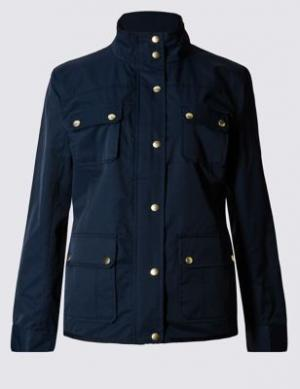 Куртка Stormwear™ с 4 карманами и воротником-воронкой Classic. Цвет: темно-синий