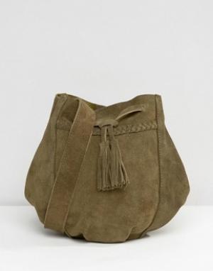 Park Lane Замшевая сумка через плечо. Цвет: золотой