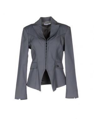 Пиджак MISS MONEY. Цвет: серый