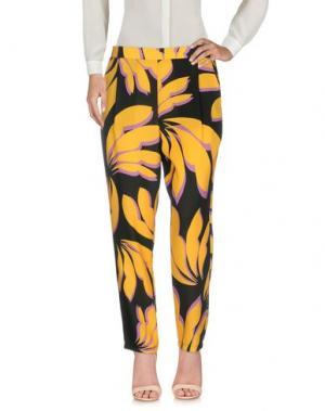 Повседневные брюки ONE. Цвет: желтый