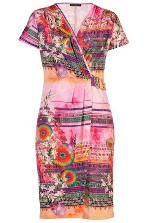 Платье Apart. Цвет: розовый, многоцветный