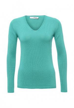 Пуловер Lovini. Цвет: бирюзовый