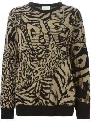 Вязаный свитер Aries. Цвет: чёрный
