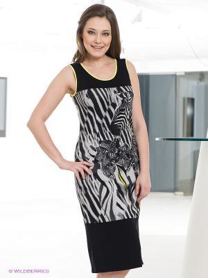 Платье DORISStreich. Цвет: черный, серый, желтый