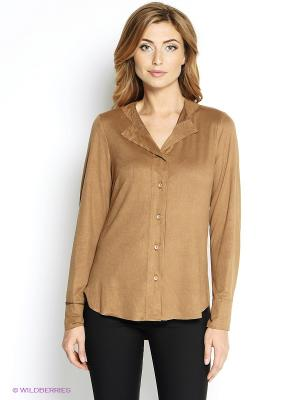 Блузка Oltre. Цвет: коричневый