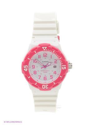 Часы Casio LRW-200H-4B. Цвет: белый, розовый