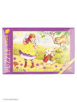 Пазлы 1000 элементов Алиса в стране чудес Канц-Эксмо. Цвет: зеленый