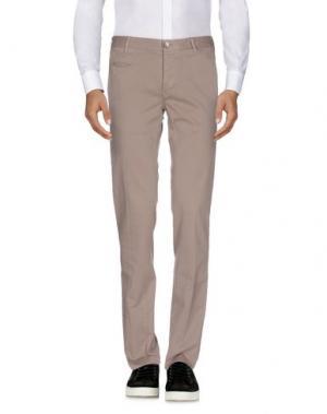 Повседневные брюки MANUEL RITZ WHITE. Цвет: голубиный серый