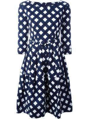 Платье в горох Samantha Sung. Цвет: синий
