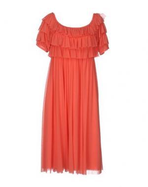 Платье длиной 3/4 FUZZI. Цвет: коралловый