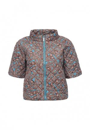 Куртка утепленная oodji. Цвет: коричневый