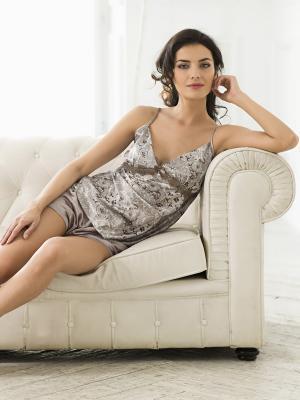 Пижама MIA-MELLA. Цвет: серый, коричневый
