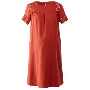 Платье для периода беременности, с макраме и красивой спинкой La Redoute Collections. Цвет: красный/ кирпичный